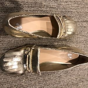 Brass Plum Gold Loafers